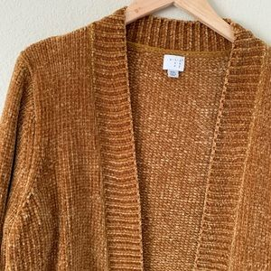 a new day Sweaters - A New Day Chenille Cardigan Mustard Yellow